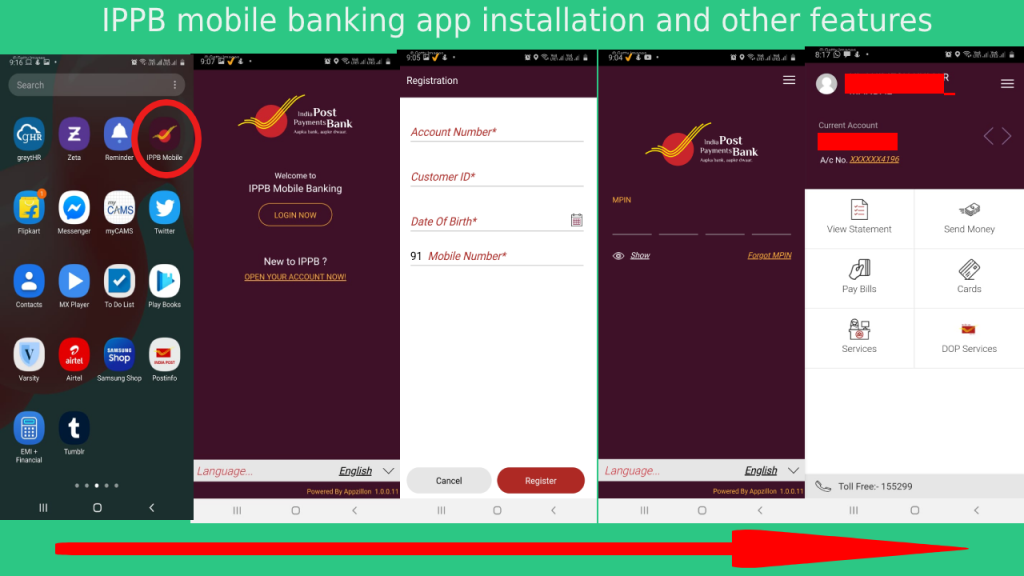 india post payments bank app installation