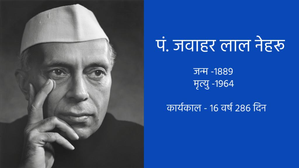 भारत के प्रथम प्रधानमंत्री